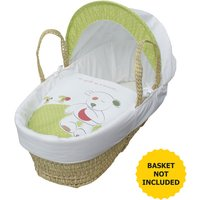 Quite as a Mouse Moses Basket Bedding Set Dressings - White
