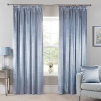 Belvedere Velvet Tape Curtains - Blue / 183cm / 168cm