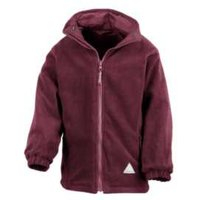 Back to School Reversible Jacket - Burgundy / 7-8 years