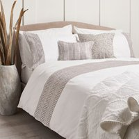 Charlotte Embroidered Linen Duvet Cover and Pillowcase Set - King