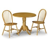 Dundee Table and Two Windsor Chairs Set - Honey pine