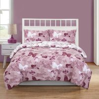 Mariposa Butterfly Duvet Cover and Pillowcase Set - Rose / Single