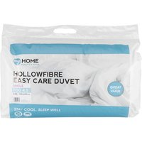 My Home 4.5 Tog Duvet - White / Single