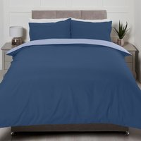 Riley Reversible Duvet Cover and Pillowcase Set - Blue/Sky / Double