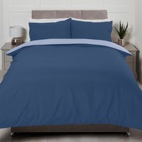Riley Reversible Duvet Cover and Pillowcase Set - Blue/Sky / Double