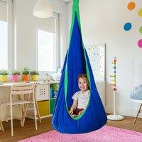 Pod Swing Chair Hanging Hammock - Blue