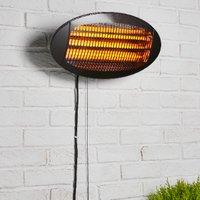 Wall Mounted Patio Heater - Black