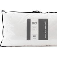 Goose Feather and Down Pillow Collection - White / 90cm / Soft/Medium