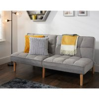 Neve Linen 3 Seater Sofa Bed - Grey
