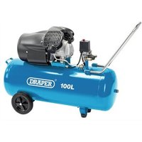 Draper 100L V-Twin Air Compressor 2.2Kw