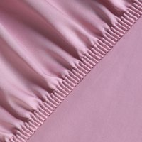 Silky Satin Fitted Bed Sheet King - Rose