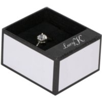 'Lucy K Silver Coloured Pear Shaped Stone Set Ring - Medium