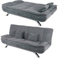 Linen Seater Sofa Bed Grey - Grey