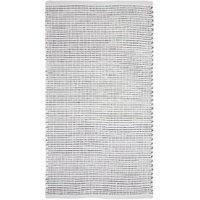 Ribbed Stripe White Cotton Runner - 120cm