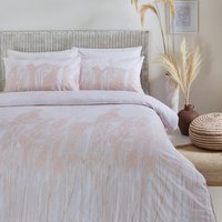Pampas Plant Washed Cotton Duvet Cover Set - Double