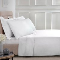 Polycotton Flat Sheet - White / King