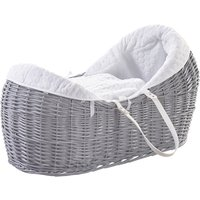 White Honeycomb Grey Pod Moses Basket - Grey
