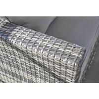 5 Seater Corner Sofa Grey Rattan Set - Grey Without rain cover