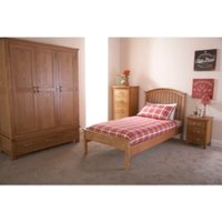 Madrid Low Foot End Bed Frame - Oak / Small Double