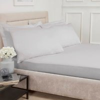 Polycotton Deep Fitted Sheet - Silver / King