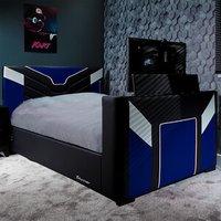 X Rocker Cerberus TV Ottoman Bed - Blue / Single