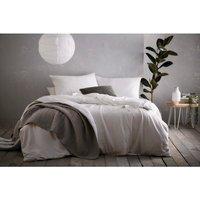 Aspect Duvet Cover and Pillowcase Set - White / Double