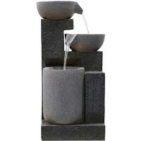 3 Bowl Faux Stone Water Feature