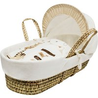 Zoo Time Moses Basket with Natural Little Gem Rocking Stand