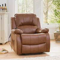 Copthorne Electric Riser Recliner with Massage and Heat - Brown