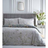 Florette Duvet Cover and Pillowcase Set - Green/Ochre / Single