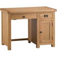Bisbrooke Country Single Computer Desk - Medium Oak