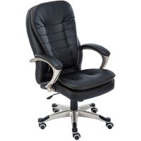 'Westwood Executive Office Chair Leather Swivel - Black