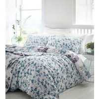 Kew Duvet Cover and Pillowcase Set  - Teal / Super King