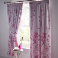 Fairy Princess Pencil Pleat Lined Curtains - Pink / 54cm