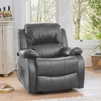 Copthorne Electric Riser Recliner with Massage and Heat - Grey