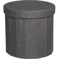 'Merida Round Foldable Storage Ottoman - Charcoal