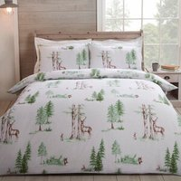 Highclere Stag Duvet Cover and Pillowcase Set - Green / Super King