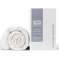 Goose Feather and Down 10.5tog Duvet - White / Double / 200cm