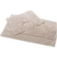 San Marino 2 Piece Cotton Bath and Pedestal Mat Set - Mocha