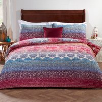 Melody Cotton Rich Duvet Cover and Pillowcase Set - Double