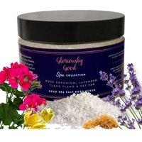 Rose Geranium, Lavender, Ylang Ylang and Vetiver Aromatherapy Dead Sea Salt Body Scrub