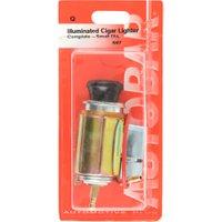 12v Illuminated Small Cigar Lighter - Black