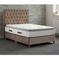 Jonas and James Chatsworth Divan Bed Set With Mattress - Stone / 2 / Single