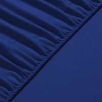 Flannel Fleece Fitted Bed Sheet Queen - Royal Blue