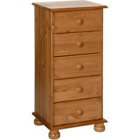 Jonas and James Cecilia Five Drawer Narrow Chest - Pine