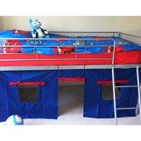 'Kosy Koala Metal Mid Sleeper Cabin Bed With Blue Tent - Blue