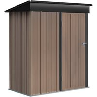 Metal Outdoor Storage Shed - Brown