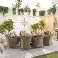 Camilla 8 Seater Rattan Oval Dining Set