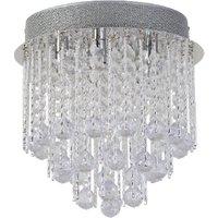 5 Light Spiral Chandelier - Silver