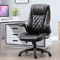 'Sleek Executive Office Chair With Headrest - Black